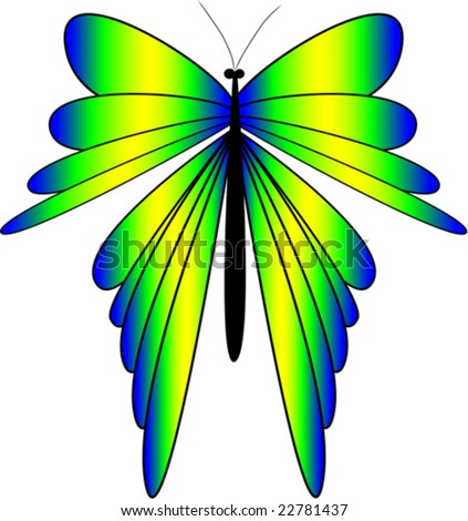 Illustration of a butterfly, vector can be scaled to any size.