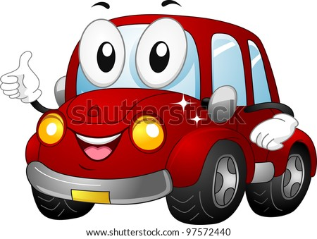 stock-vector-illustration-of-a-car-mascot-giving-a-thumbs-up