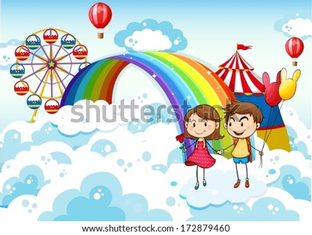 illustration of a carnival in