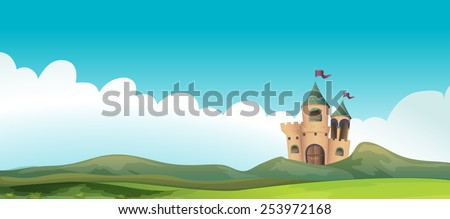 Illustration of a castle and the land