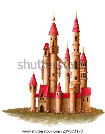 illustration of a castle magic