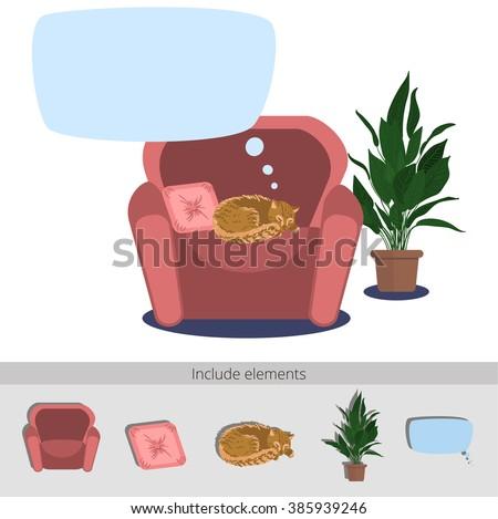 illustration of a cat sleeping