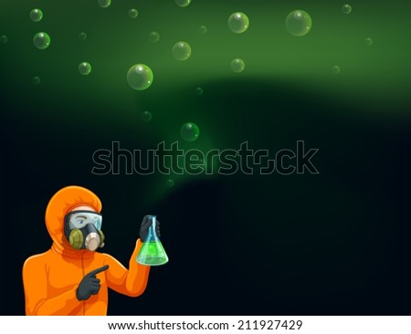 illustration of a chemist