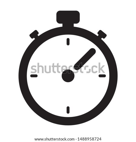 Illustration of a chronometer and stopwatch icon. Can be used in ads and institutional