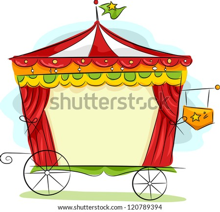 Illustration of a Circus Carriage