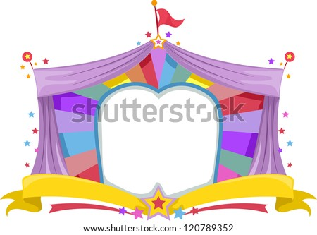 Illustration of a Circus Tent Banner