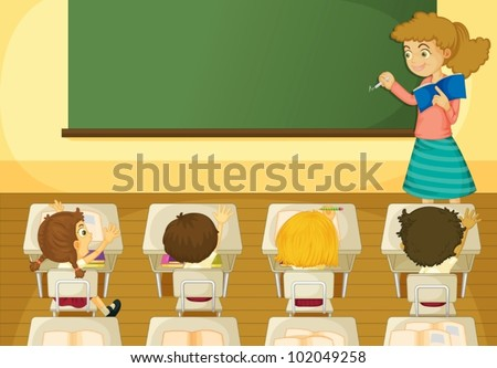 Illustration of a classroom scene
