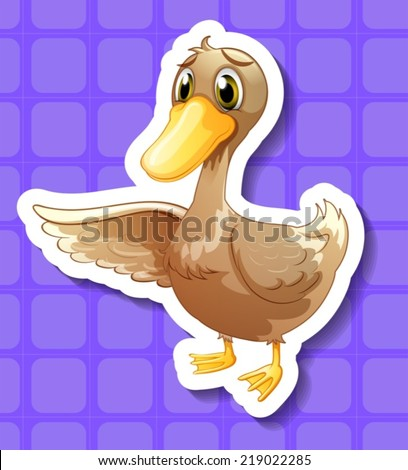 illustration of a close up duck