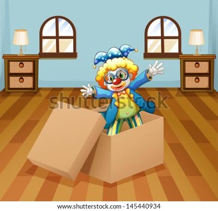illustration of a clown inside