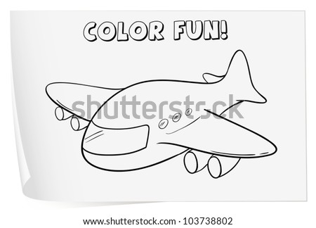 Illustration of a colouring worksheet (plane)