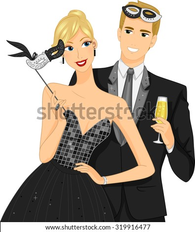 illustration of a couple at a