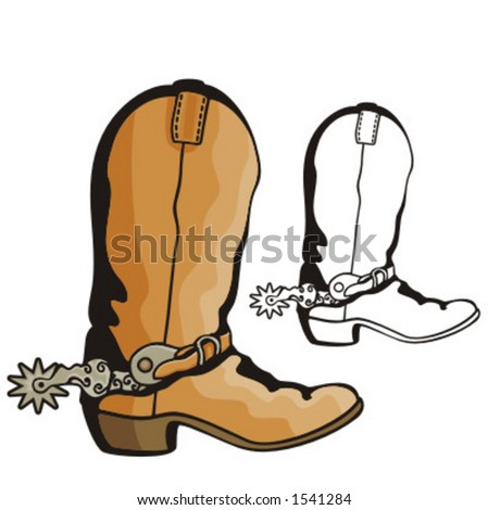 Illustration of a cowboy boot.