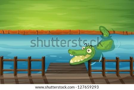 illustration of a crocodile and