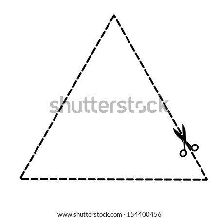 Vector Images Illustrations And Cliparts Illustration Of A Cut Out Coupon Triangle Shape With Scissors Vector Hqvectors Com