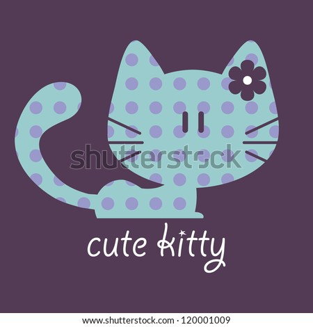 Illustration of a cute kitty