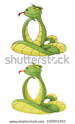 illustration of a cute snake