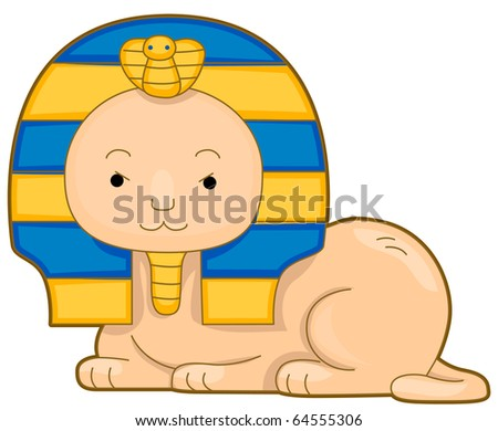 illustration of a cute sphinx