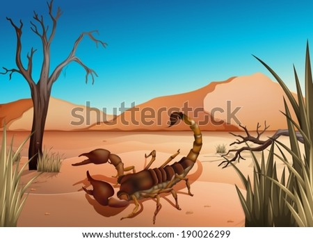 illustration of a desert with a