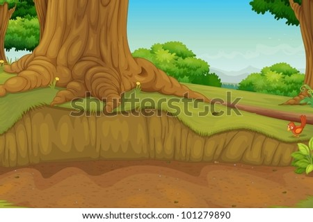 illustration of a dirt path in