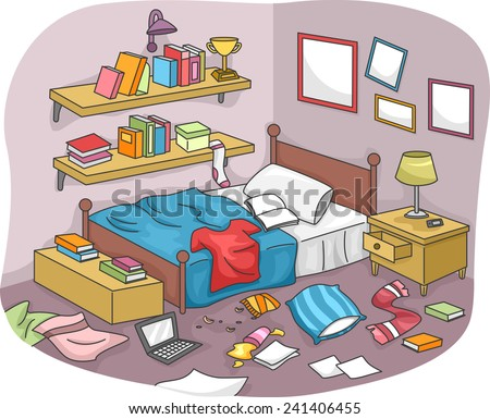 illustration of a disorganized