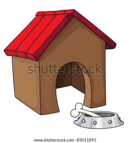 illustration of a dog house
