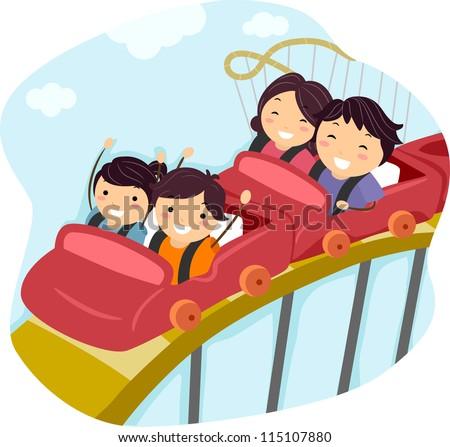 Roller Coaster Rides Riding a Roller Coaster