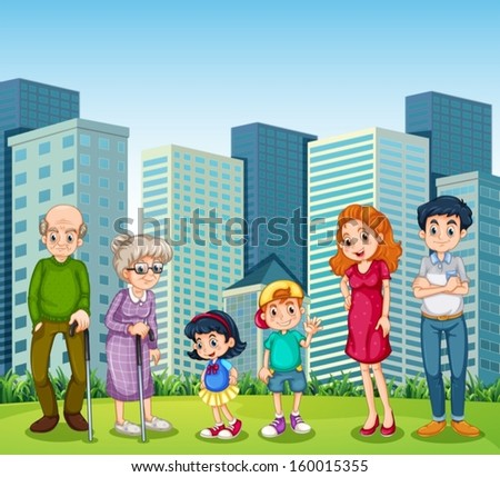 illustration of a family with