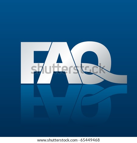 Illustration of a FAQ frequently asked questions pictogram