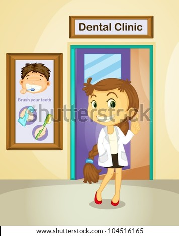 Illustration of a female dentist
