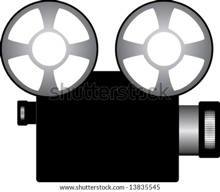 film clipart. of a Film projector