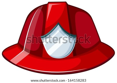 illustration of a fire helmet