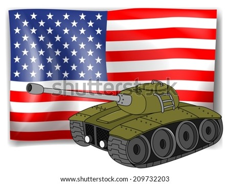 illustration of a flag and a