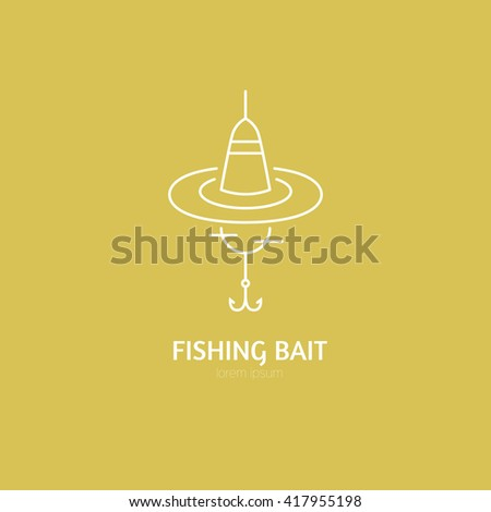 Illustration of a float - fishing gear series. Modern line style vector label or logo.