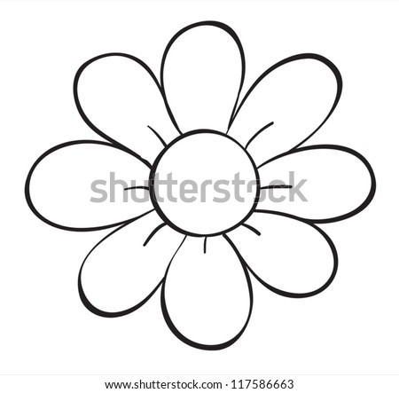 Flowers outlines download free vector art stock graphics images illustration of a flower sketch on white background mightylinksfo Gallery