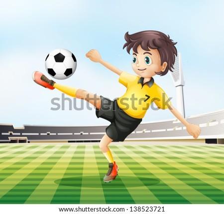 illustration of a football