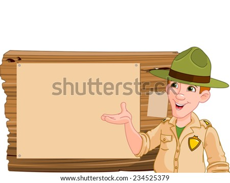 illustration of a forest ranger