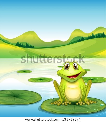 illustration of a frog above
