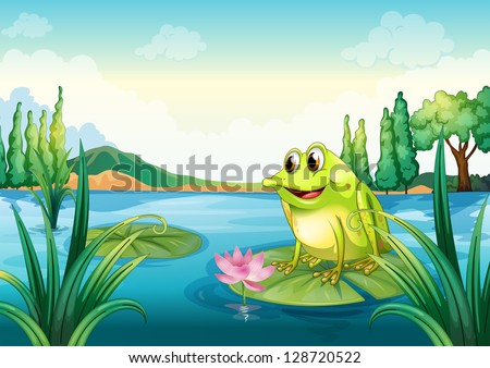 illustration of a frog at the