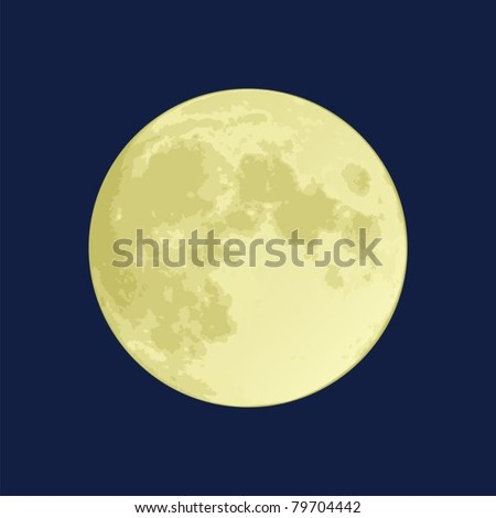 illustration of a full moon on