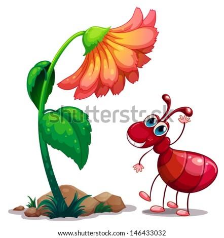 illustration of a giant flower