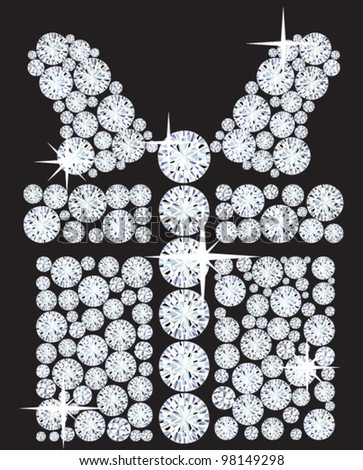 illustration of a gift consisting of diamonds