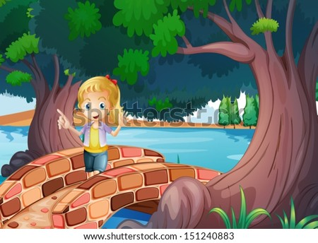 illustration of a girl at the