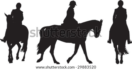 Illustration of  a girl riding a horse