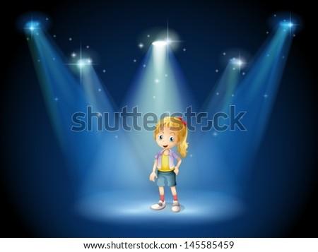 illustration of a girl under