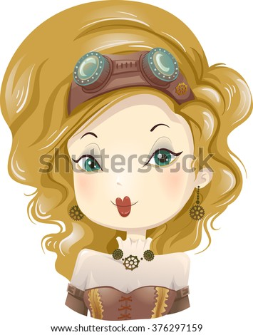 illustration of a girl wearing