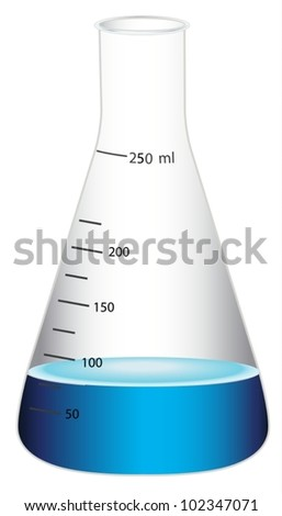 illustration of  a glass flask