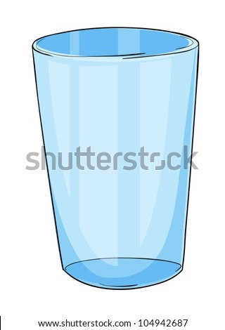 Illustration of a glass on white