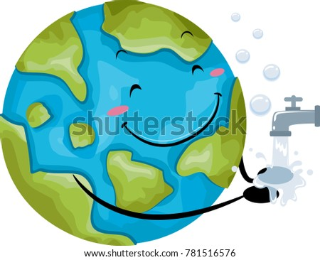 illustration of a globe mascot