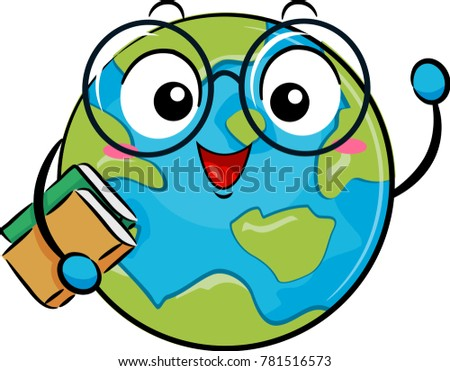 illustration of a globe mascot
