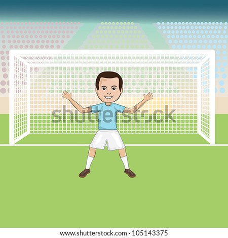 illustration of a goal keeper